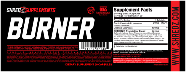 Fat Burner Dietary Supplement